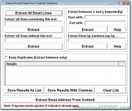 Extract Email Data From Outlook Software screenshot